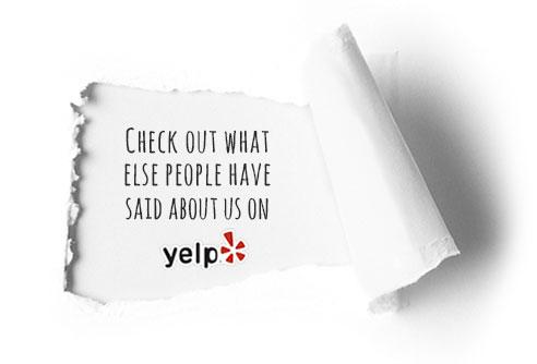 Testimonials on Yelp