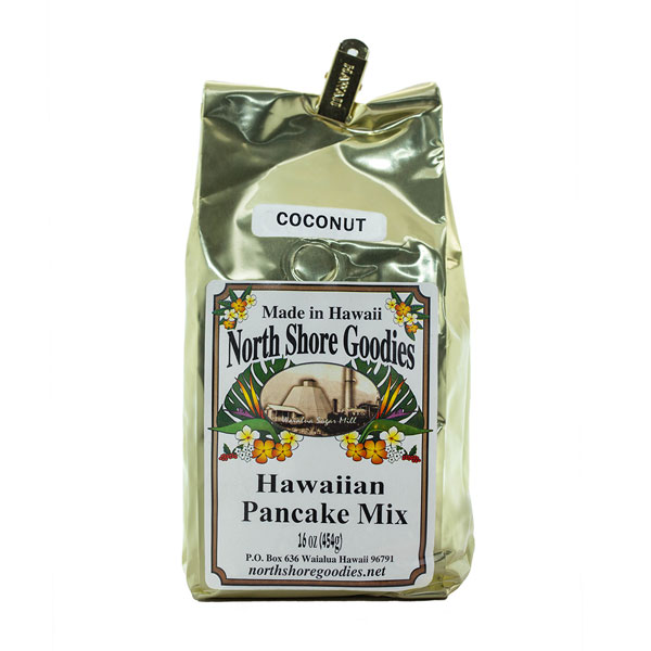 Coconut Hawaiian Pancake Mix by North Shore Goodies Hawaii