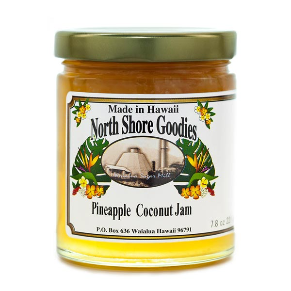 Pineapple Coconut Jam made by North Shore Goodies Hawaii